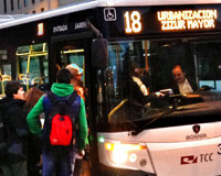 La Línea 18 de Sarriguren vuelve a crecer en número de viajeros en 2014
