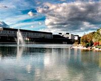 El lago de Sarriguren, el mayor de toda la cuenca de Pamplona