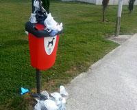Dejadez municipal con la limpieza en Erripagaña
