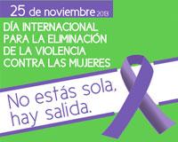 Actividades por el Día Internacional para la Eliminación de la Violencia hacia las Mujeres