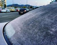 El frío y las heladas continúan en Sarriguren