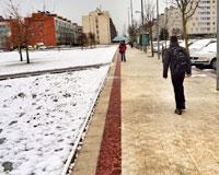 La nieve llegará esta tarde de nuevo a Sarriguren