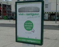 Vivir en Sarriguren renueva la imagen de su web con un nuevo logotipo y colores