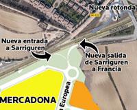 Sarriguren contará con una nueva entrada y salida a través de la avenida de la Unión Europea