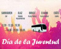 """Los jóvenes de Sarriguren podrán acudir al Día de la Juventud en autobús con """"voy y vengo"""""""