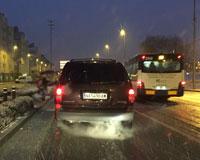 La primera gran nevada de 2015 llega a Sarriguren