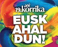 Cientos de personas participaron en la Korrika a su paso por Sarriguren