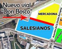 El nuevo vial de acceso al centro de FP Salesianos de Sarriguren se llamará Don Bosco