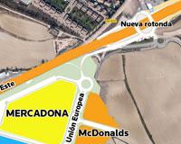 Los nuevos accesos a Sarriguren se aprobarán hoy en el pleno municipal