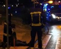 Un accidente de tráfico cerca de Tracasa en Sarriguren deja tres heridos