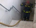 Incendio en un garaje de Sarriguren provocado por una moto