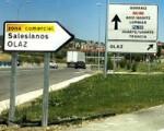 Las señales del nuevo acceso a Sarriguren omiten que se trata de un acceso a Sarriguren