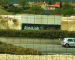 Continúan las obras de la salida de Sarriguren por la nueva rotonda de Olaz