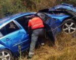 Cinco vecinas de Sarriguren sufren un accidente de tráfico en Sorauren
