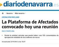 Diario de Navarra enlaza los contenidos de Vivir en Sarriguren para informar a sus lectores