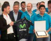 El Movistar Team recibió un homenaje en el Ayuntamiento por su brillante trayectoria deportiva