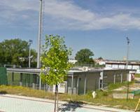 El antiguo bar prefabricado de la Ciudad Deportiva de Sarriguren se encuentra desaparecido