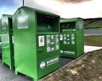 Los 16 contenedores de ropa situados en Sarriguren han recogido ya 1.855 Kg.