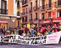 Mañana huelga y manifestación en el Colegio Público de Sarriguren