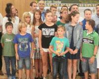 Recepción oficial a los ocho niños ucranianos acogidos en Sarriguren, Gorráiz y Sagaseta