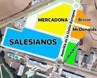 Ya se ha iniciado en Sarriguren la urbanización de la zona donde se levantarán Salesianos, Mercadona y McDonald's