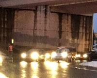 La Policía Foral empieza a regular el tráfico en las rotondas de salida de Sarriguren