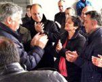 Geroa Bai apoyó al Alcalde el pasado sábado en Sarriguren